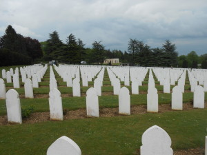 A view of the Muslim Square where colonial soldiers who died are buried.