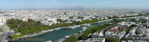 View of Paris and the river Seine