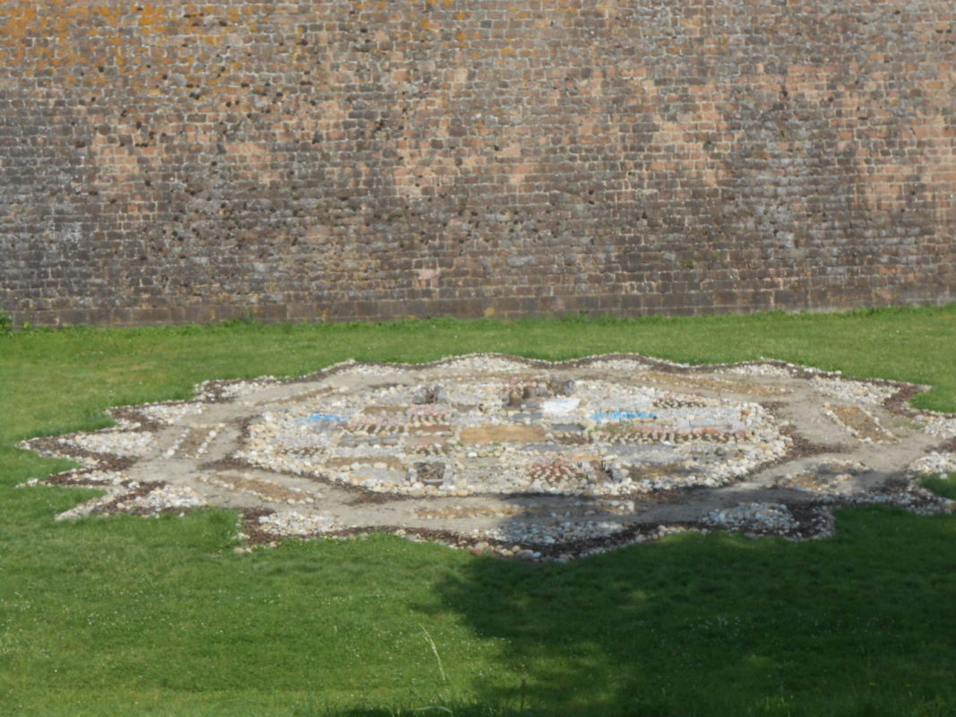 A stone made map of Neuf-Brisach
