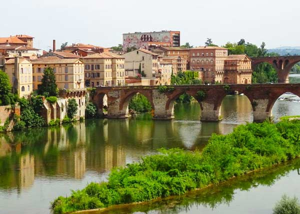 View of the Tarn river in Albi
