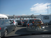Autoroute toll gate in France