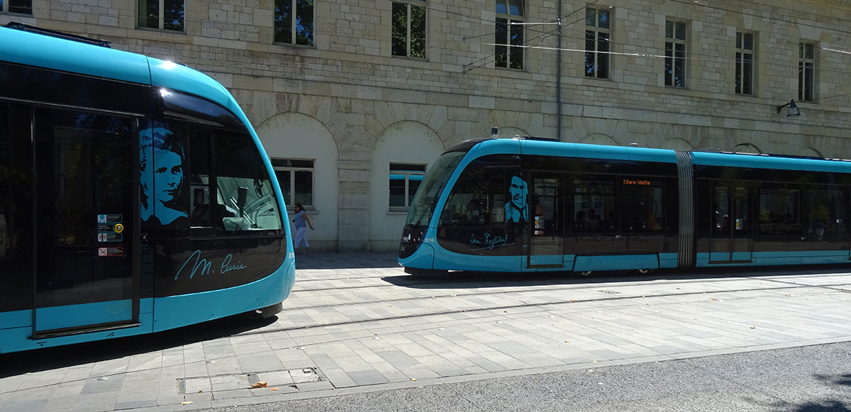 The city trams of Besançon