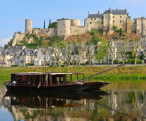 Chinon over looking the River Vienne