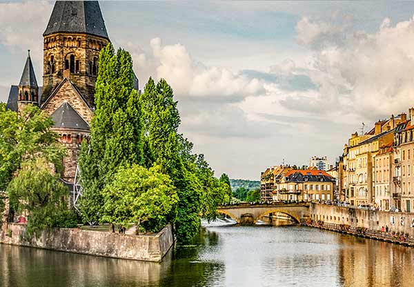 Metz and the River Moselle