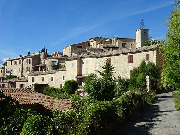 The village of Lurs in the Alpes de Haute Provence