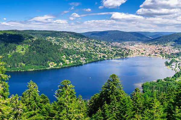 Gerardmer lake in Vosges mountains
