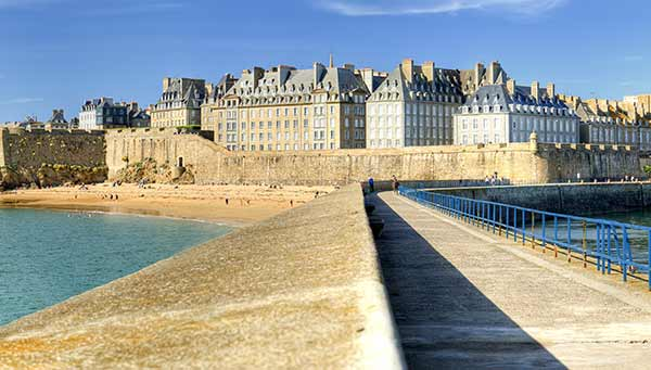 The fortified port of Saint Malo