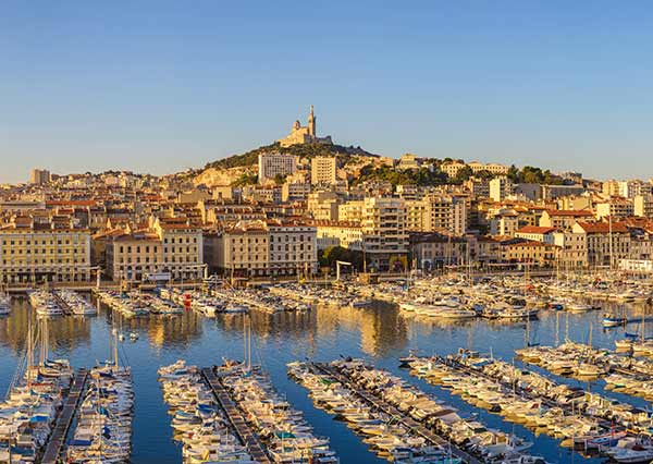 A view of Marseille in Southtern France