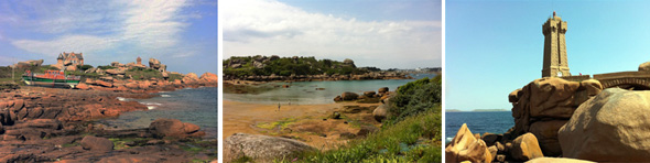 View of the coast in the Morbihan