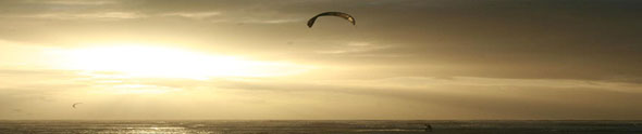 Photos of kite-surfing near Touquet