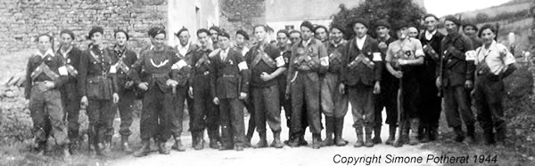 Members of the resistance in Burgundy