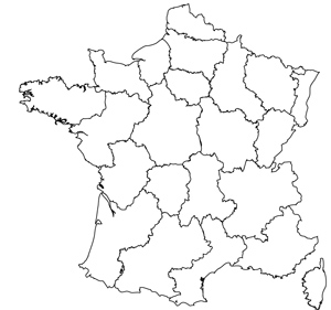 Maps Of The Regions Of France - France map images blank