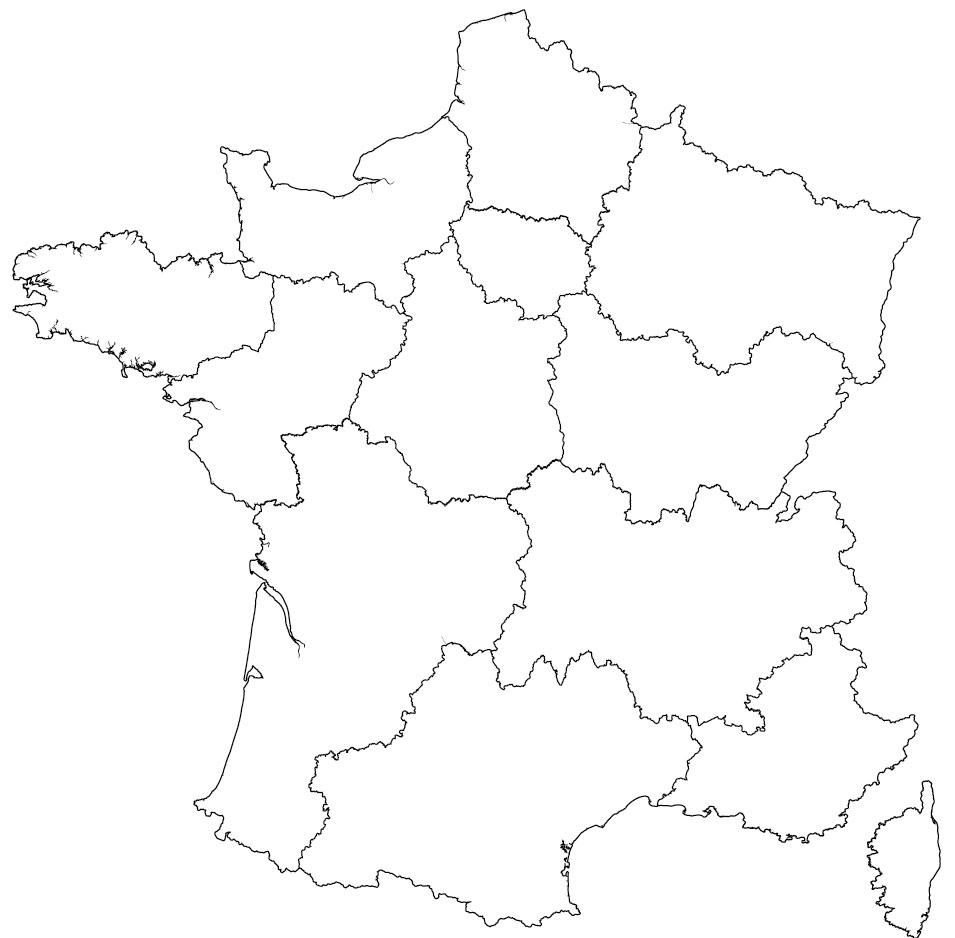 Physical Map Of France Blank