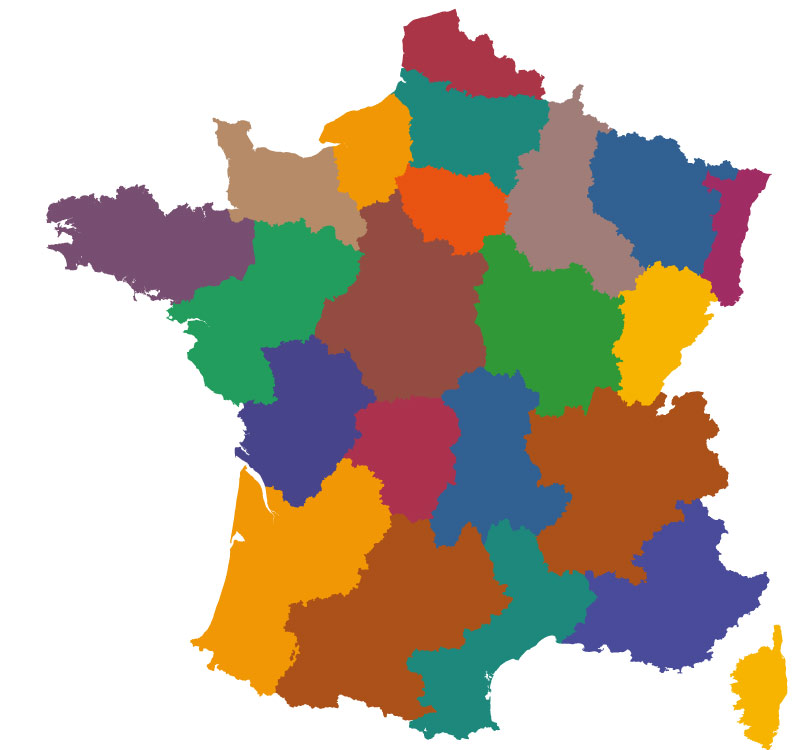 Maps Of The Regions Of France - France map blank