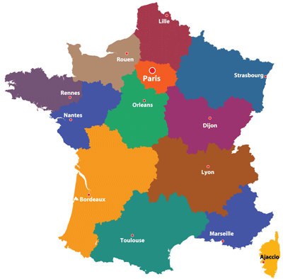 Map Of France Toulouse.Maps Of The Regions Of France