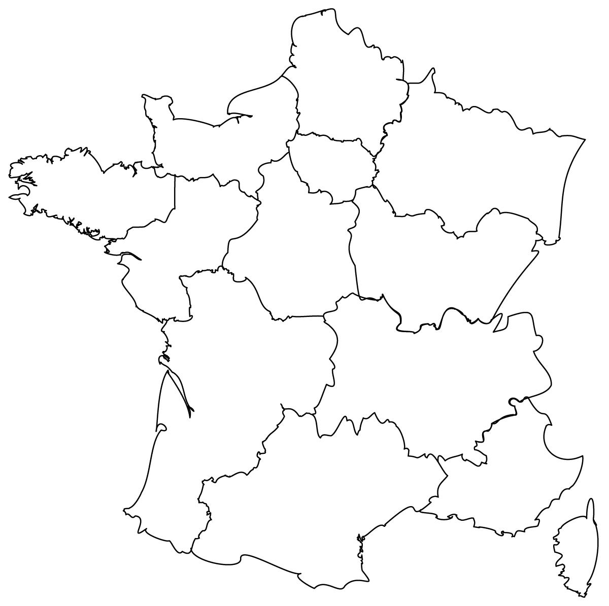 Maps of the regions of France Blank Map Of France And Bordering Countries on map of countries that border france, map of france and turkey, map with countries border iran, map of france and neighboring countries, map of france regions departements, map of france and mountains, map of monaco and surrounding countries, map pyrenees france, map french regions in france, france and surrounding countries, map of brussels and surrounding countries, map of france and seas, map of france burgundy wine region, map of france and neighbouring countries, us map with surrounding countries, map of ancient greece and greek islands, map of france after french revolution, map of france wine growing regions, map with italy flag, map of france and outlying countries,