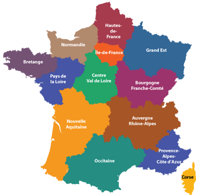 Outline of the regions