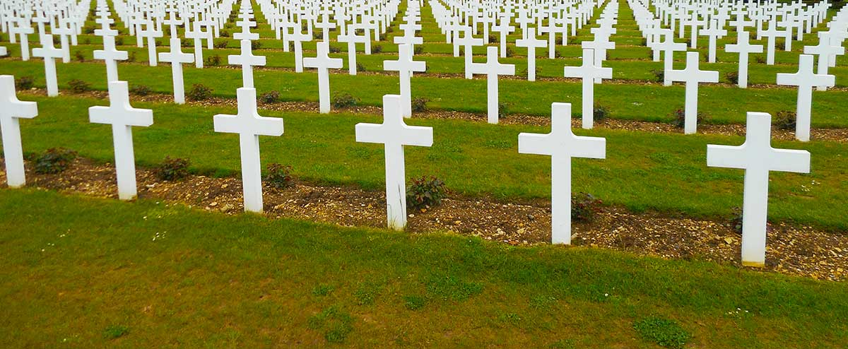 War graves in Verdun, France