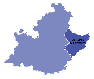 Map of Provence-Alpes-Azur, France
