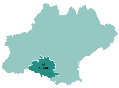 Map of Midi-Pyrenees in France