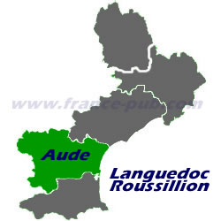 Department map of Aude