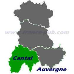 Department map of Cantal