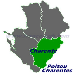 Department map of Charente