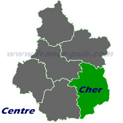 Department map of Cher