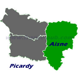 Department map of Aisne