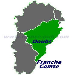 Department map of Doubs