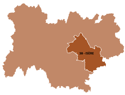 Map of Rhone-Alpes, France