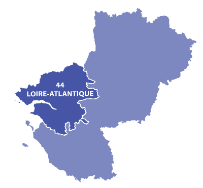 Map of Pays-de-la-Loire, France