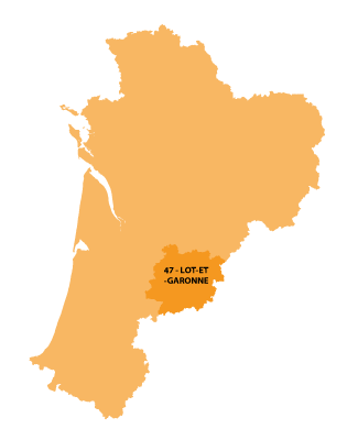Map of Aquitaine, France