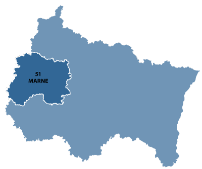 Map of Champagne-Ardenne, France