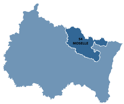 Map of Lorraine, France