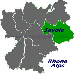 Department map of Savoie