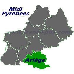 Department map of Ariège
