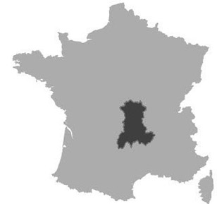 Map of Auvergne, France