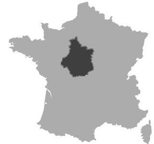 Map of Centre, France