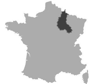 Map of Champagne-Ardenne in France