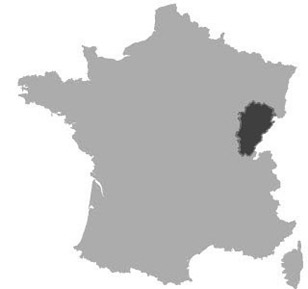 Map of Franche-comte in France