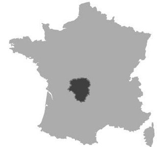 Map of Limousin in France