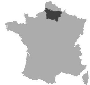 Map of Picardy in France