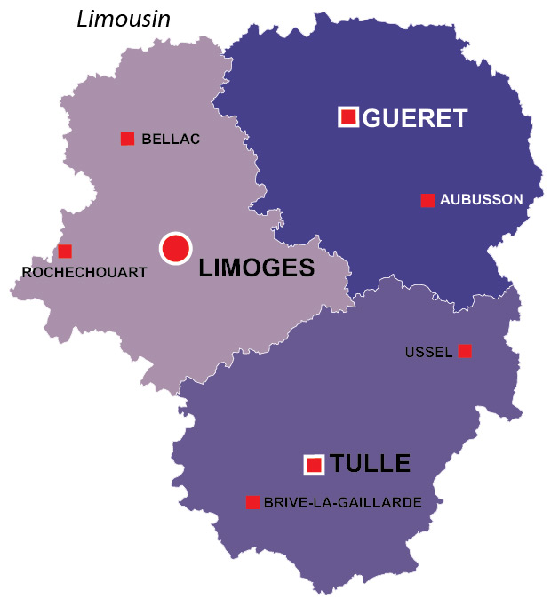 Limousin Region Of France All The Information You Need - Major cities in france