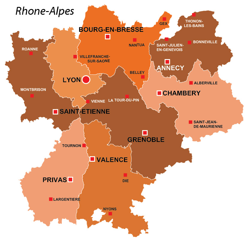 rhone alpes region of france all the information you need. Black Bedroom Furniture Sets. Home Design Ideas