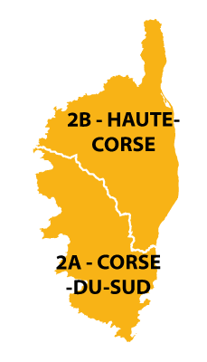 The departments in Corsica