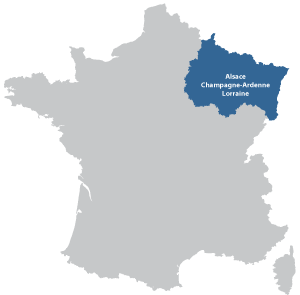 Map of Grande Est in France