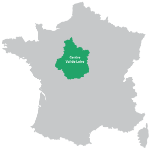 A map of Centre-Val de Loire