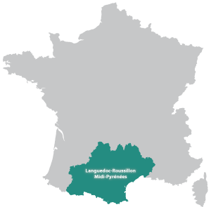 Map of Occitaine in France