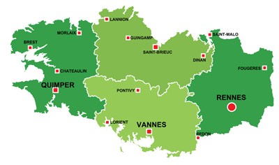 Brittany On Map Of France.La Bretagne The Brittany Region Of France All The Information You Need
